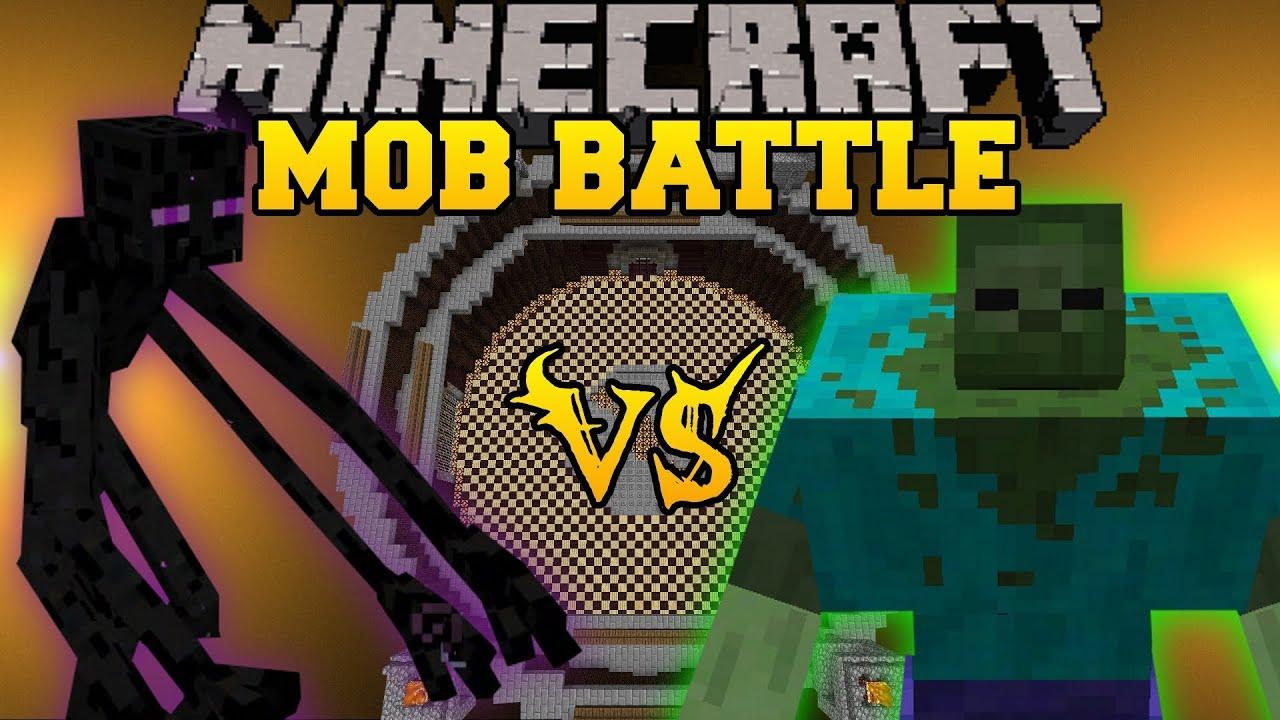 Mutant Zombie Vs Mutant Enderman Minecraft Mob Battles