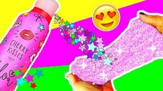 DIY KIRSCH GLITZER SLIME aus BILOU CHERRY KISSES I Fluffy Pink Glitter Slime I PatDIY