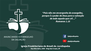 IPBJ | Culto Vespertino: Mc 14. 12-21 | 11/10/2020