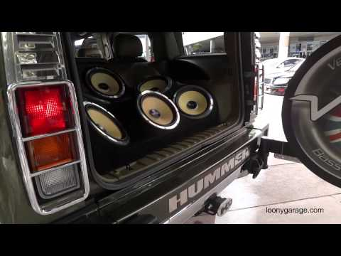 Hummer H2 With Custom Sound System @ SEMA