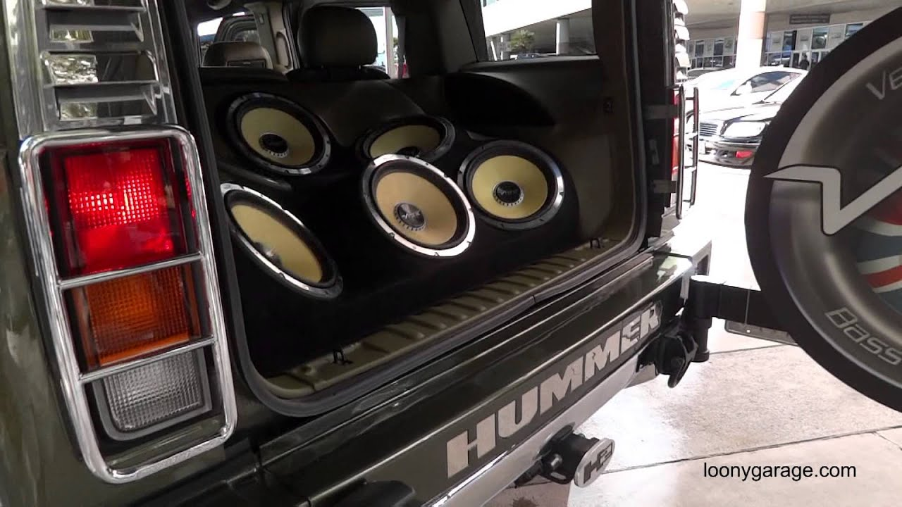 Hummer H2 With Custom Sound System Sema Youtube