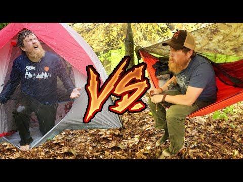 Hammock Vs Tent Camping In The Rain