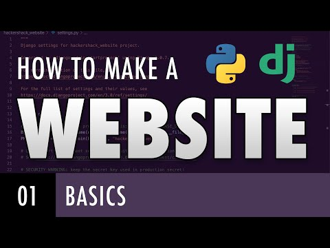 How to make a website with Python and Django - BASICS (E01)