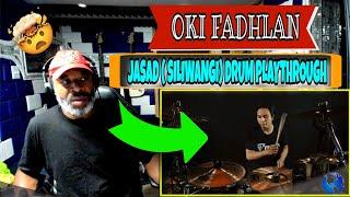 OKI FADHLAN - JASAD ( SILIWANGI) DRUM PLAYTHROUGH - Producer Reaction