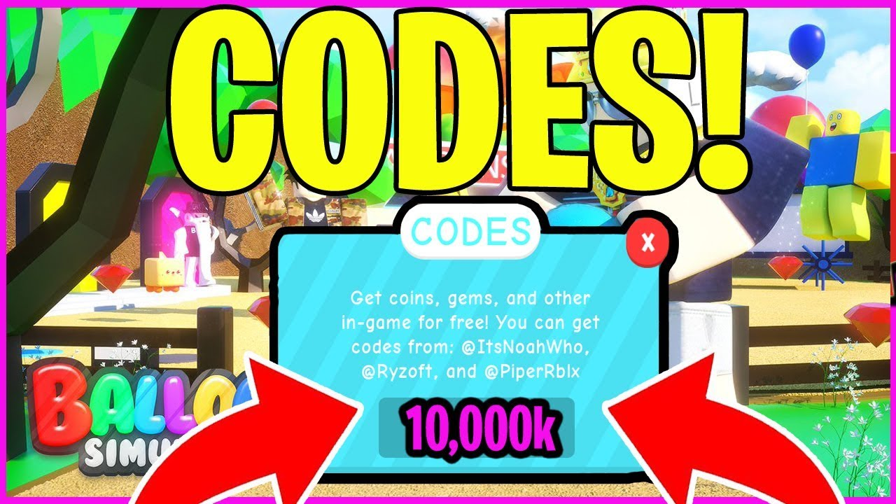 Balloon Simulator Codes Roblox New All Codes Youtube