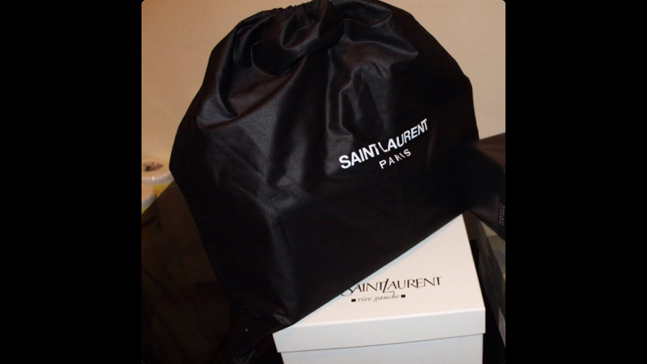 Birthday Haul: YSL, Saint Laurent, bag and shoes - YouTube
