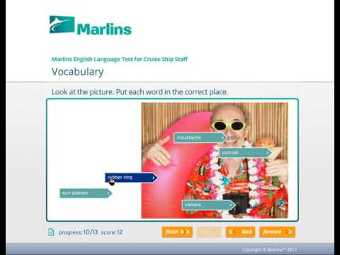 Marlins test for Cruise Ship Staff (free practice version)