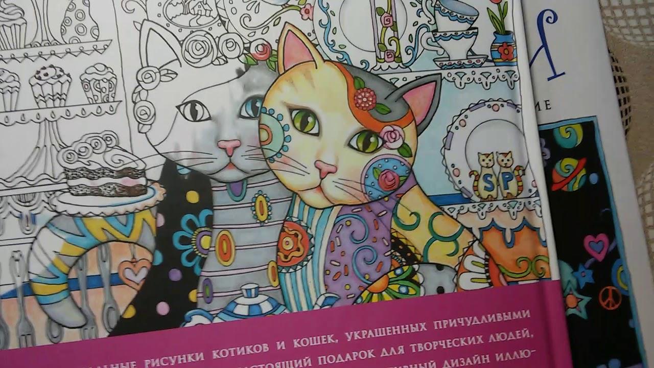 Раскраски антистресс котики и совушки. Творческий рай ...