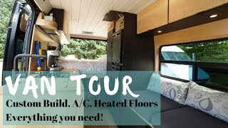 VanLife Tour: A/C, Heated Floors, Huge Power System, Back Seating...What else could you need?!