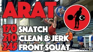 Ibrahim Arat (94) - Training 4 Days Out (170 Snatch / 210 C&J / 245 Front Squat)