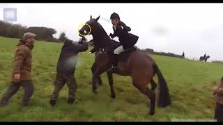 Video Woman Uses Horse To Charge People - Horse Is Confused, Hurt & Scared download MP3, 3GP, MP4, WEBM, AVI, FLV November 2017