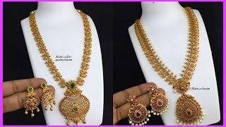 Latest One Gram Gold Jewellery Designs | One Gram Gold Jewellery