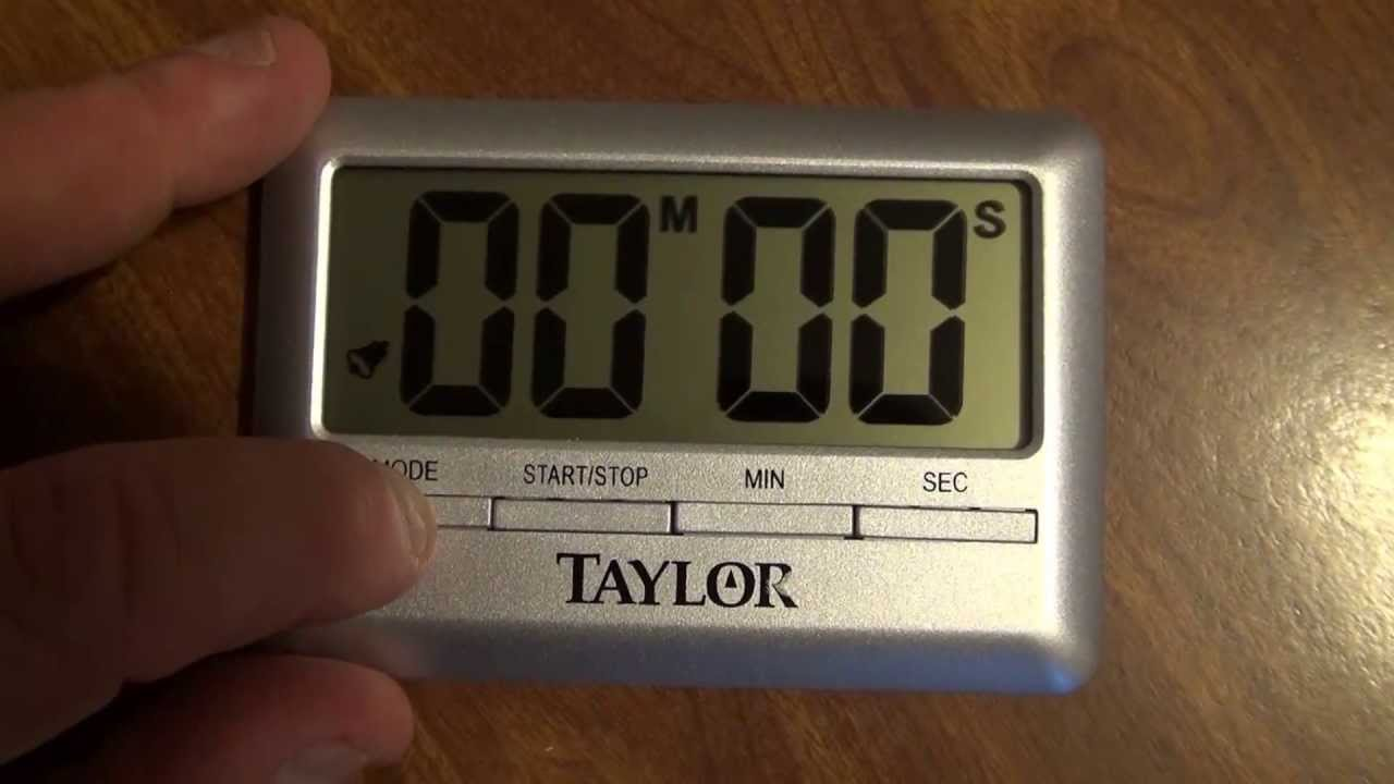 Product Review: Taylor Kitchen Timer And Alarm Clock   YouTube
