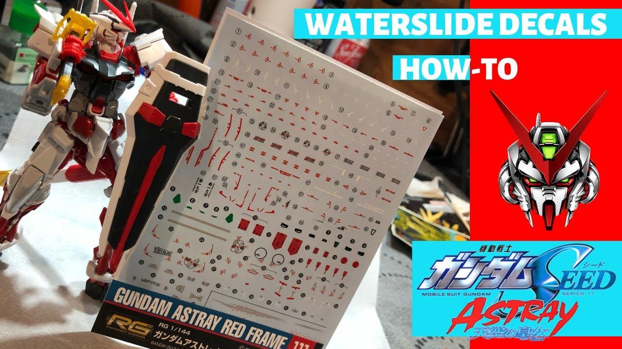 Detail Up HG 1//144 Red Astray Gundam Model Kit Water Slide Decal 61846