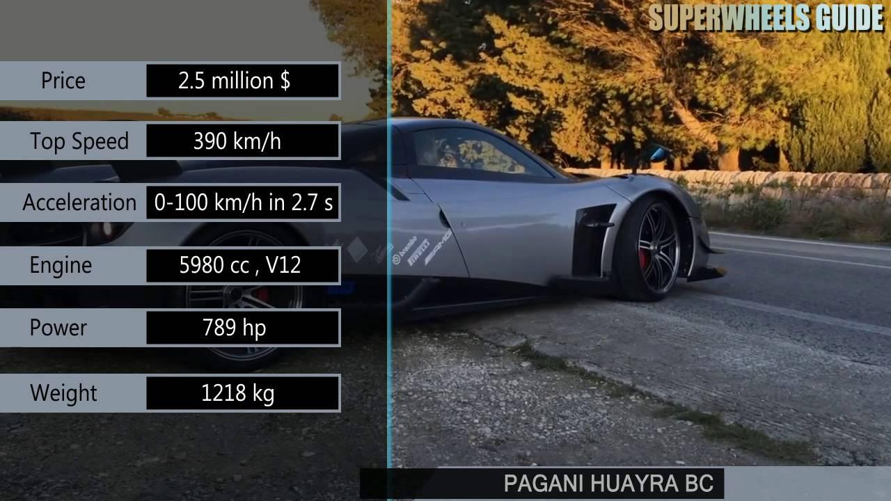 Pagani Huayra Bc Vs Aston Martin Vulcan Specifications Youtube