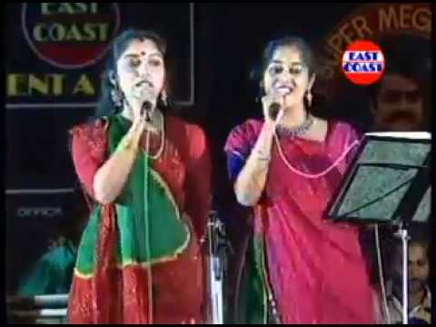 Mohanlal Stage Show 1992 |  Monisha and Revathy singing  - Vaa Meham