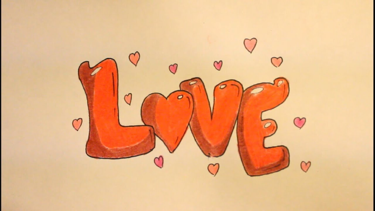 How To Draw Love In Bubble Letters Step By Step