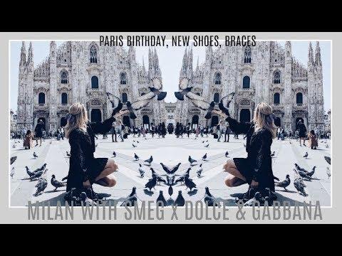 MILAN WITH SMEG x DOLCE & GABBANA | PARIS' BIRTHDAY, NEW SHOES, BRACES | IAM CHOUQUETTE