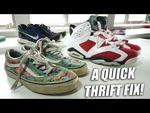 3 Sneaker Restorations 1 Vid! Jordan Carmine 6 | A Quick Thrift Fix!!