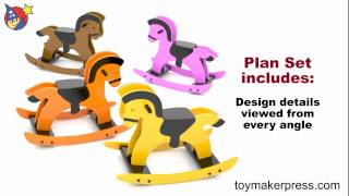Wood Toy Plans - Scandinavia Pony Riding Rocker