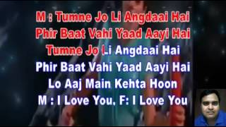 Kate nahin kat te ye din ye raat karaoke only for male singers by Rajesh Gupta