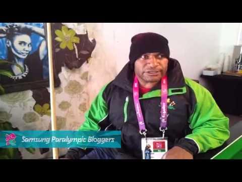 Samsung Blogger - Papua New Guinea athletes chilling out in the Globe, Paralympics 2012