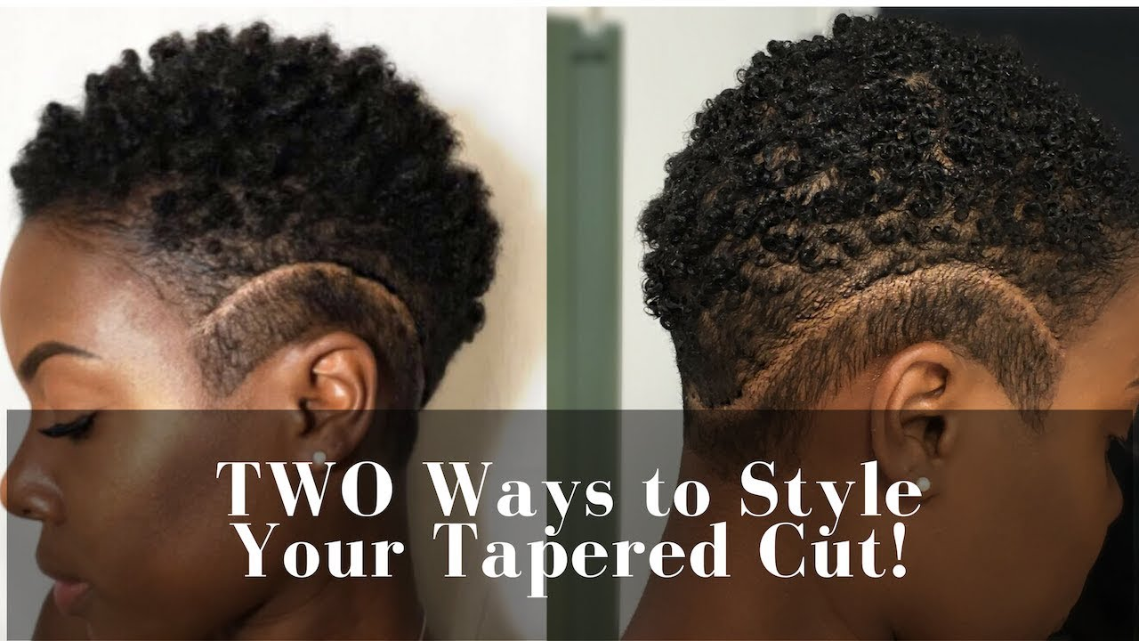 Two Easy Ways To Style Tapered Cut Curl Sponge Wash N