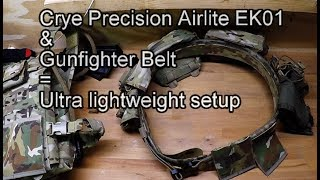 Crye Precision Airlite PC + Gunfighter belt - Tactical.dk -