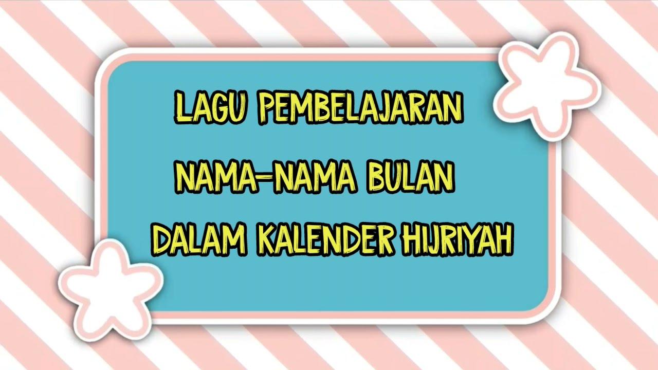 Lagu Nama nama Bulan Hijriyah Versi Sholawat Sidnan Nabi. Hafalan ...