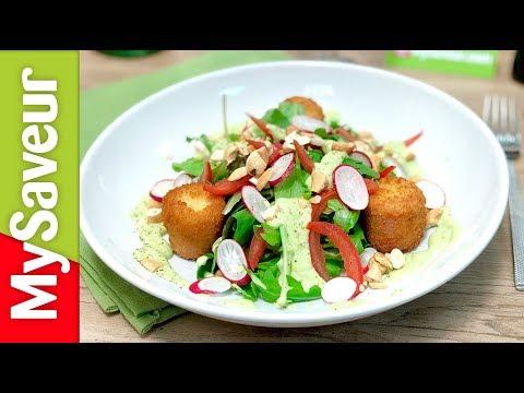croquettes-de-cœurs-de-palmiers,-lard-en-salade-et-vinaigrette-d'avocat-(petits-plats-de-marques)