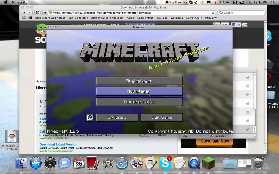 minecraft free download full version macbook air