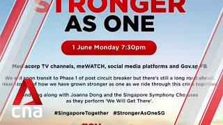 COVID-19: Video to rally Singaporeans to air on Mediacorp channels on Jun 1 at 7.30pm