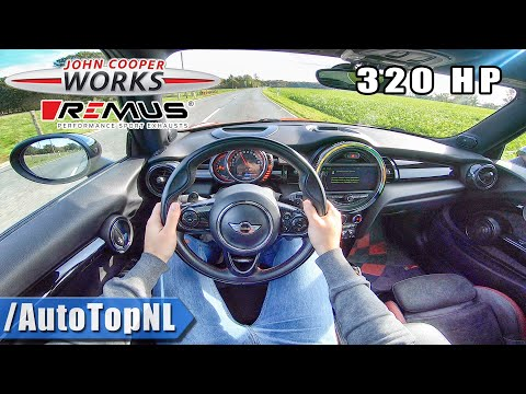 320HP MINI JCW | STRAIGHT PIPE Remus EXHAUST | POV Test Drive By AutoTopNL