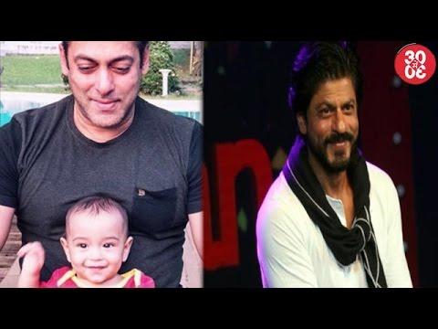 Salman Khan Bonds With Nephew Ahil   Shahrukh Says He Can't Describe Himself