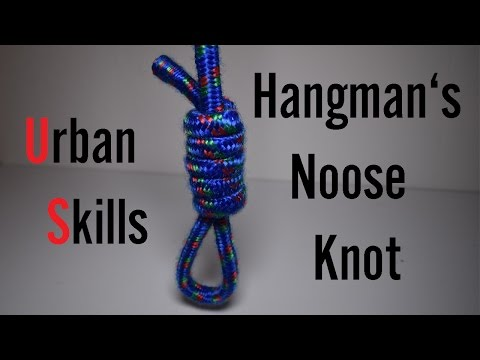 Knots: Hangman's Noose Knot  Easy tutorials and how to's for everyone Urbanskills