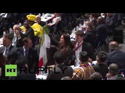Switzerland: Protesters interrupt FIFA congress to demand Israel's expulsion