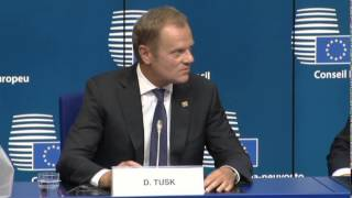 Donald TUSK, Polish Prime Minister and President-elect of the European Council