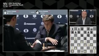 Карлсен - Карякин, 10 партия. Комментирует Сергей Шипов.