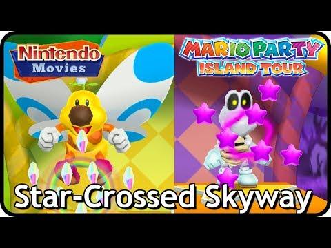 Mario Party Island Tour - Star-Crossed Skyway (Yoshi vs Daisy vs Toad vs Luigi)