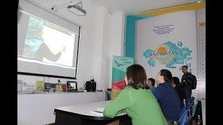 Уроки по  изучению нового казахского алфавита  в библиотеке