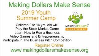 Making Dollars Make Sense Youth Entrepreneur Summer Camp Fortnite Gaming Business