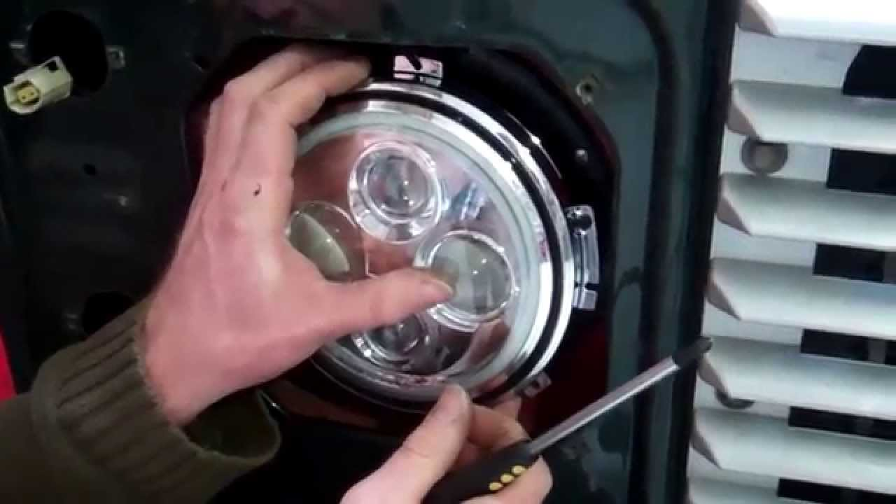 defender led headlight upgrade part 3