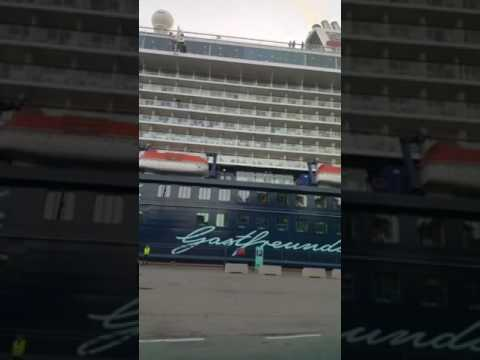 Worlds biggest cruise ship in Norway , Oslo