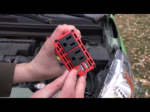 BESTEK Dual 110V AC outlets and Dual USB 3.1A 300w Power Inverter (Unboxing and Demonstration!)