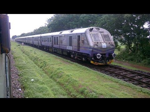 Indian Railways Bullet DEMU makes Madgaon Passenger wait at Bijoor