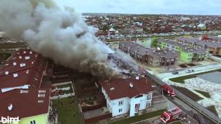 Пожар в посёлке таунхаусов