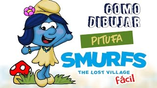 Como dibujar los pitufos / how to draw the smurfs