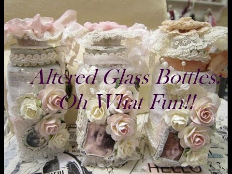 shabby chic altered glass jars - small thrift store haul