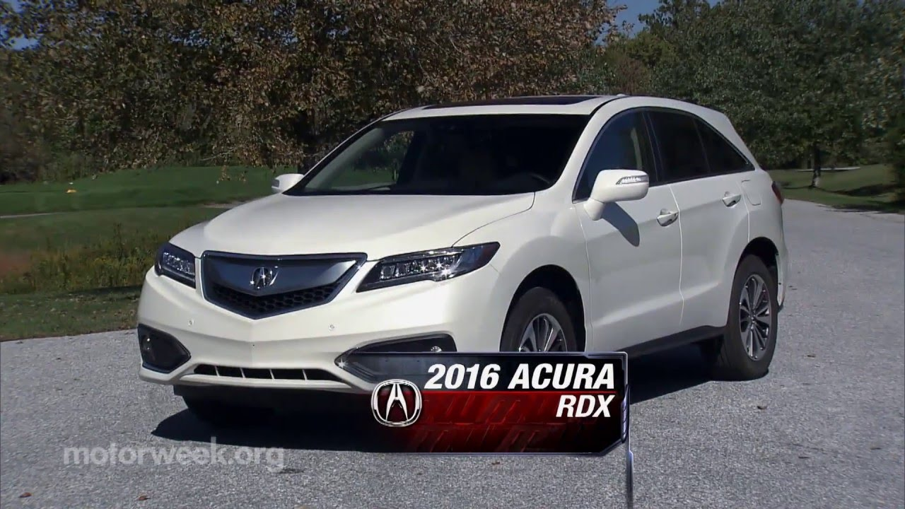 MotorWeek | Road Test: 2016 Acura RDX