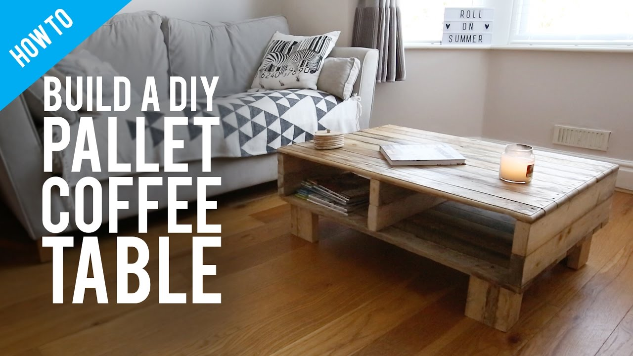how to build a diy rustic pallet coffee table - youtube